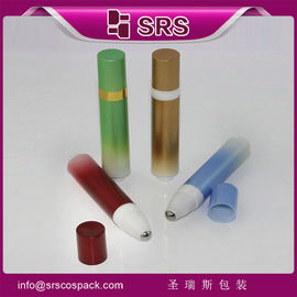 SRS packaging no leakage plastic airless roll on bottle with press button for eye cream