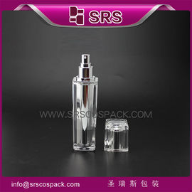 clear lotion bottle L054 15ml 30ml 50ml 100ml plastic cream bottle with pump
