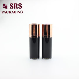 A020 paint black acrylic double wall lotion bottle cosmetic airless bottle