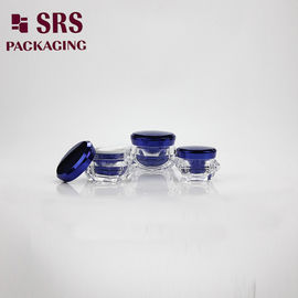 China diamond shape 5g 15g 30g 50g double wall luxury face mask acrylic containers with lids supplier