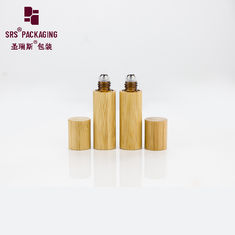 China 5ml mini organic natural essential oil empty glass bottle bamboo cap supplier
