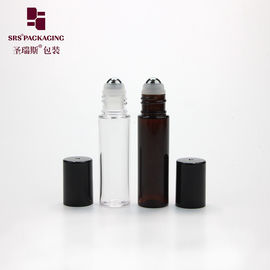 China 10ml transparent amber empty plastic PET skin care lip gloss roll on tube supplier