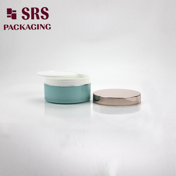 blue jar with metalized lid plastic empty big size hand cream packaging