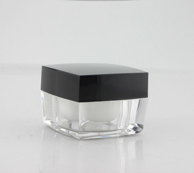 50g clear jar with black plastic lid skin care cream acrylic container