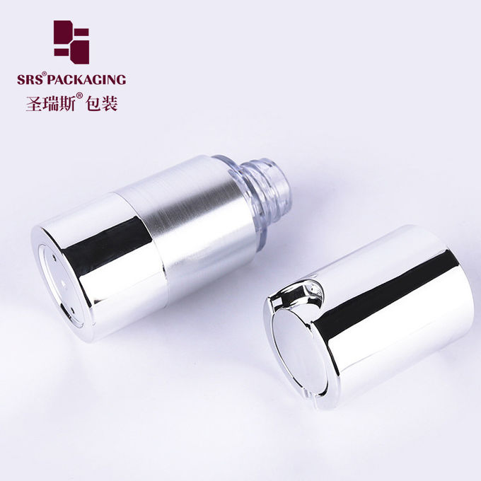 15ml 30ml 50ml cosmetic custom silver empty airless eye cream bottle