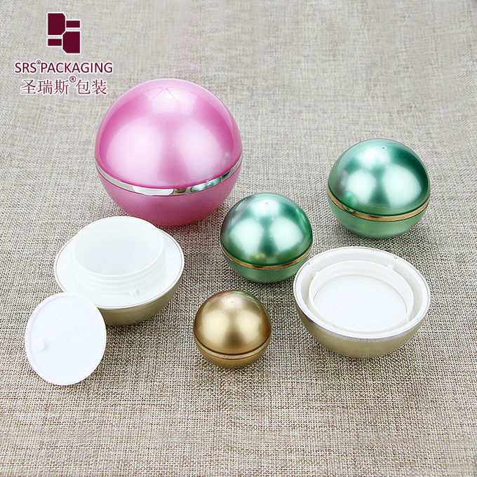 ball shape customized color acrylic empty skin care cream jar 5g